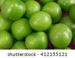 Green Plums Close Up.