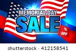 memorial day. sale banner.... | Shutterstock .eps vector #412158541