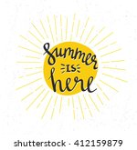 hand drawn summer lettering   ... | Shutterstock .eps vector #412159879