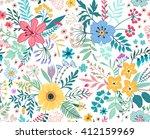 beautiful pattern in small... | Shutterstock .eps vector #412159969