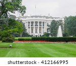 Small photo of WASHINGTON, UNITED STATES - AUGUST 13, 2008 - view of the historic White House residence of the President of the United States Of America free world