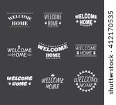 welcome home collection. set of ... | Shutterstock .eps vector #412170535