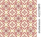 seamless retro pattern. tiled... | Shutterstock . vector #412170895