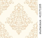 elegant damask wallpaper.... | Shutterstock . vector #412171105