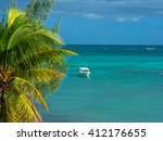 beach of grand baie  north of... | Shutterstock . vector #412176655