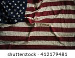 old american flag background...   Shutterstock . vector #412179481