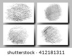 vector set of grunge textures.... | Shutterstock .eps vector #412181311