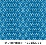 seamless azure blue op art...