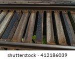 train tracks on the bridge.   Shutterstock . vector #412186039