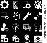 options and service tools icon... | Shutterstock . vector #412187119