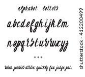 alphabet font. alphabet letters.... | Shutterstock .eps vector #412200499