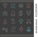 set of retro vintage logo.... | Shutterstock .eps vector #412201654