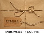 Brown Shipping Parcel Tied Wit...