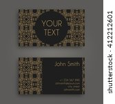 vector business card design... | Shutterstock .eps vector #412212601