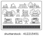 icon home village  illustration ... | Shutterstock .eps vector #412215451