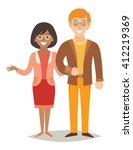 international happy family.... | Shutterstock .eps vector #412219369