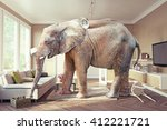 big elephant and the case of... | Shutterstock . vector #412221721