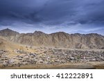 leh city view from leh palace ... | Shutterstock . vector #412222891