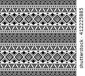 black and white aztec seamless... | Shutterstock .eps vector #412225885