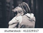 black and white portrait of ... | Shutterstock . vector #412229317
