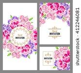 vintage delicate invitation... | Shutterstock . vector #412246081