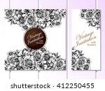 romantic invitation. wedding ... | Shutterstock . vector #412250455