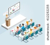 business seminar isometric flat ...   Shutterstock .eps vector #412252255
