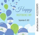 nicaragua independence day... | Shutterstock .eps vector #412253095