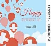 switzerland independence day...   Shutterstock .eps vector #412253161