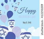 israel independence day... | Shutterstock .eps vector #412253209