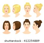 vector illustration of girl... | Shutterstock .eps vector #412254889