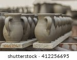 clay pots crafting | Shutterstock . vector #412256695