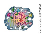 hello march beautiful... | Shutterstock .eps vector #412258861
