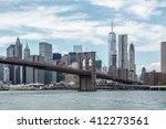 the brooklyn bridge and new... | Shutterstock . vector #412273561