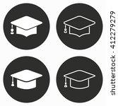 graduation cap  vector icon.... | Shutterstock .eps vector #412279279