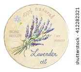 lavender oil design label ... | Shutterstock .eps vector #412282321