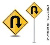 traffic sign u turn | Shutterstock .eps vector #412282825