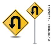 traffic sign u turn | Shutterstock .eps vector #412282831
