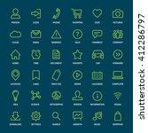 set of basic green outline... | Shutterstock .eps vector #412286797