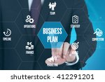 business plan technology... | Shutterstock . vector #412291201