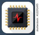 vector cpu or processor test... | Shutterstock .eps vector #412291495
