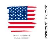 american flag made in brush... | Shutterstock .eps vector #412296709