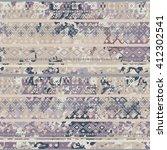 ethnic boho seamless pattern.... | Shutterstock .eps vector #412302541