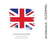 british flag made in brush... | Shutterstock .eps vector #412309981