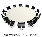 round white conference table... | Shutterstock . vector #412314451
