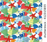 seamless pattern from set of... | Shutterstock .eps vector #412315855
