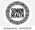senior health word cloud... | Shutterstock .eps vector #412323259