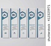 design clean number banners... | Shutterstock .eps vector #412325971