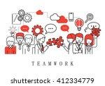teamwork concept  business... | Shutterstock .eps vector #412334779