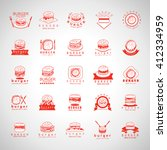 burger icons set isolated on... | Shutterstock .eps vector #412334959